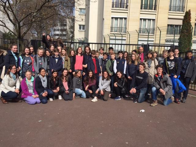 Aufenthalt der französischen Austauschschülerinnen und -schüler